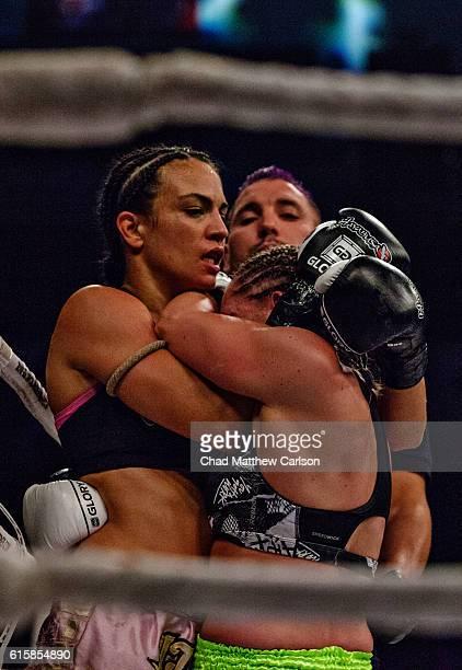 Glory 33 Jessica Gladstone in action vs Daniela Graf during Bantamweight fight at Sun National Bank Center Trenton NJ CREDIT Chad Mathew Carlson