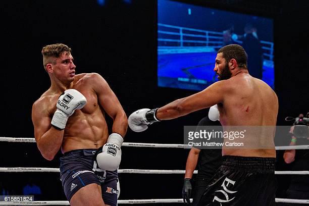 Glory 33 Rico Verhoeven in action vs Anderson Braddock Silva during Heavyweight fight at Sun National Bank Center Trenton NJ CREDIT Chad Matthew...