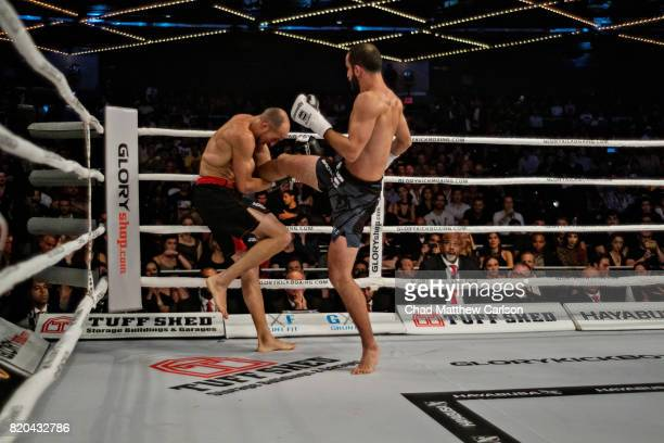 Glory 43 New York Kevin VanNostrand in action during featherweight final bout vs Giga Chikadze at Madison Square Garden Theater New York NY CREDIT...