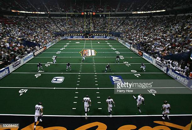 Kicker Clay Rush of the Colorado Crush kicks off to the Georgia Force in the third quarter during Arena Bowl XIX on June 12 2005 at the Thomas and...
