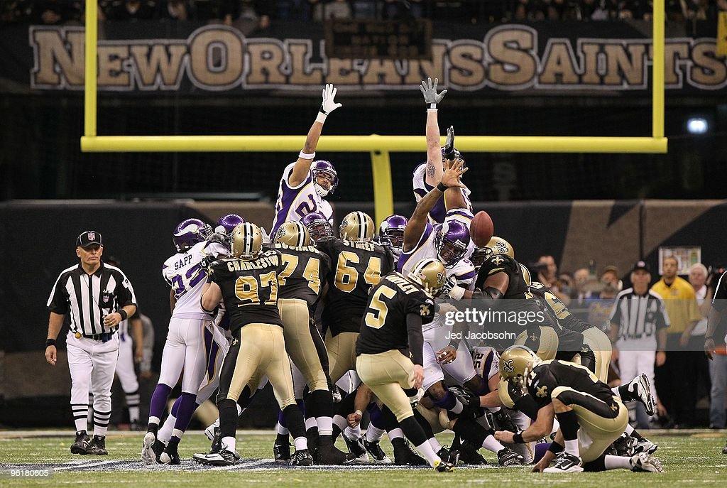 NFC Championship: Minnesota Vikings v New Orleans Saints : ニュース写真