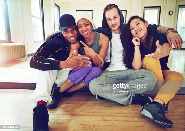 Kickin' it with the dance crew