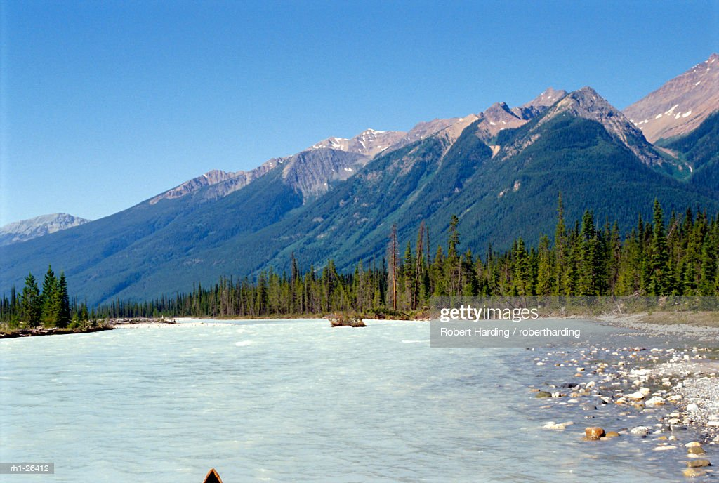 Kicking Horse River, Rocky Mountains, British Columbia, Canada : Stock Photo