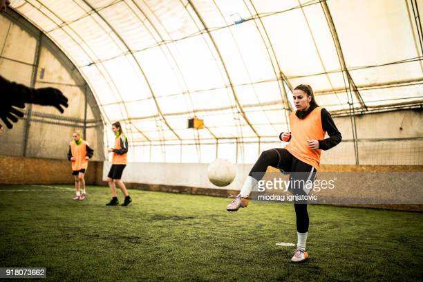 Treten im Fußball