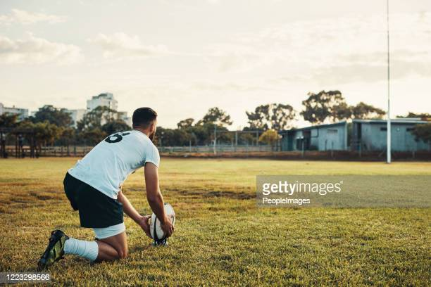 kicking is what he does best - rugby stock pictures, royalty-free photos & images