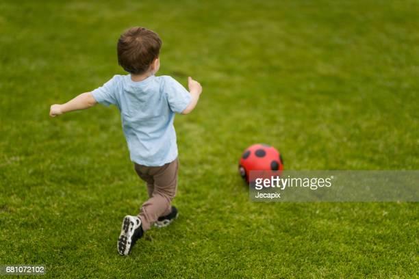 Kicking to score a goal