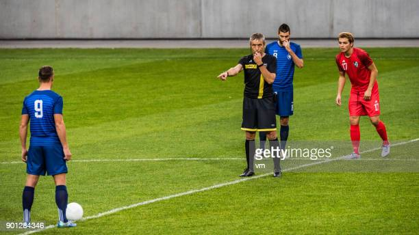kick-off - referee stock pictures, royalty-free photos & images