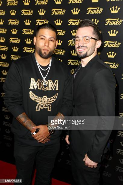 Kickstradomis and Brad R Lambert attend the Funko Hollywood VIP Preview Event at Funko Hollywood on November 07, 2019 in Hollywood, California.