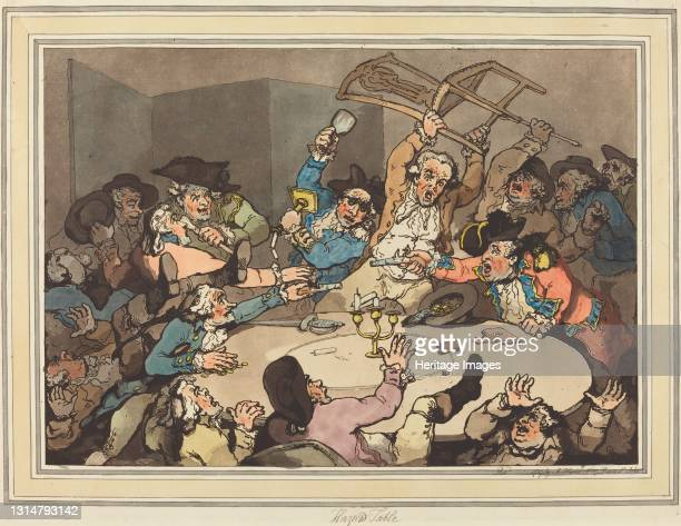 Kick-up at a Hazard Table, published 1787. Artist Thomas Rowlandson.