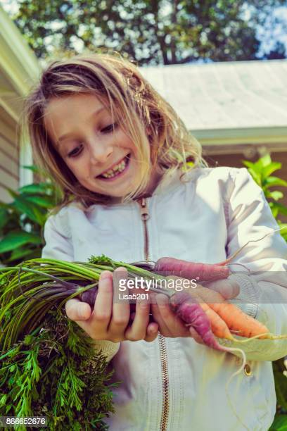 Kid and Carrots
