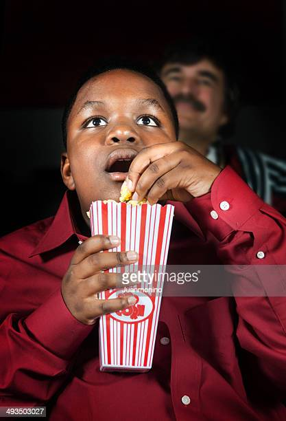Kid at the movies