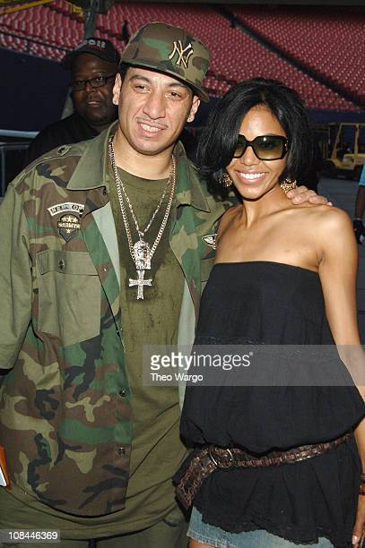 DJ Kid Capri and Amerie during Hot 97's Summer Jam 2005 Backstage at Giants Stadium in East Rutherford New Jersey United States