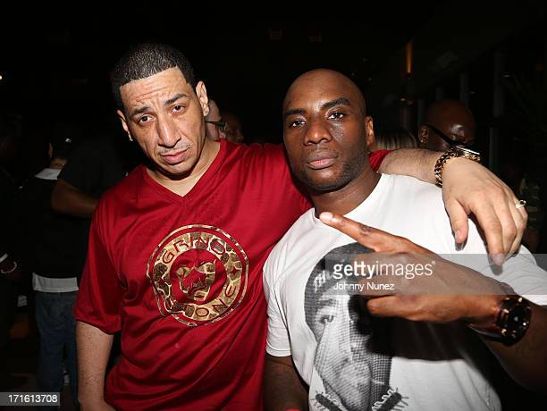 Kid Capri and Charlamagne Tha God attend Charlamagne Tha God's birthday celebration at Stage 48 on June 26 2013 in New York City