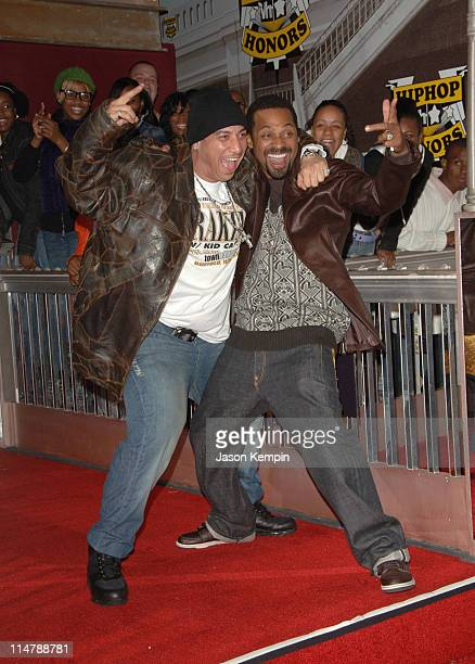 Kid Capri and Mike Epps during 2006 VH1 Hip Hop Honors Arrivals at Hammerstein Ballroom in New York City New York United States