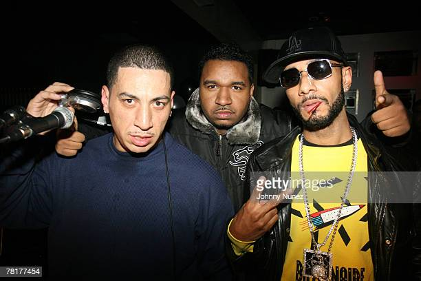Kid Capri DJ SussOne and Swizz Beatz attend Styles P's surprise birthday party at Stereo November 28 2007 in New York City