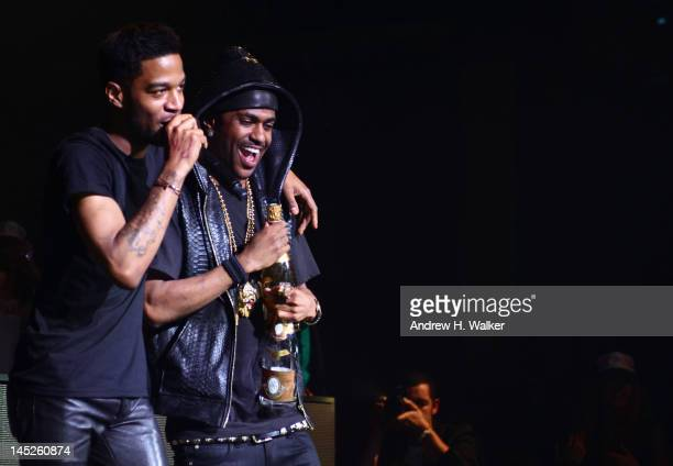 Kid Cudi and Big Sean perform at theCruel Summer After Party hosted Kanye West For The Provocateur pop up At Gotha Club Cannes on May 23 2012 in...