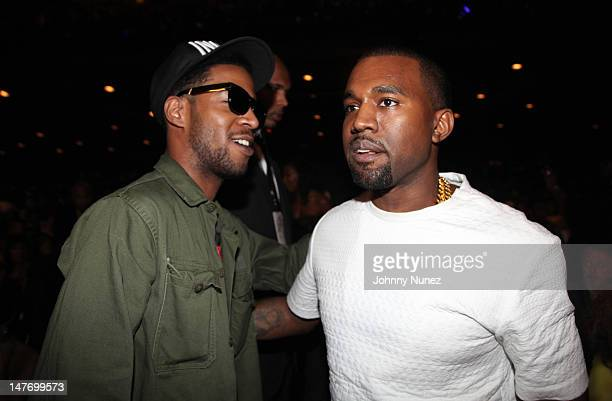 Kid Cudi and Kanye West attend the 2012 BET Awards at The Shrine Auditorium on July 1 2012 in Los Angeles California