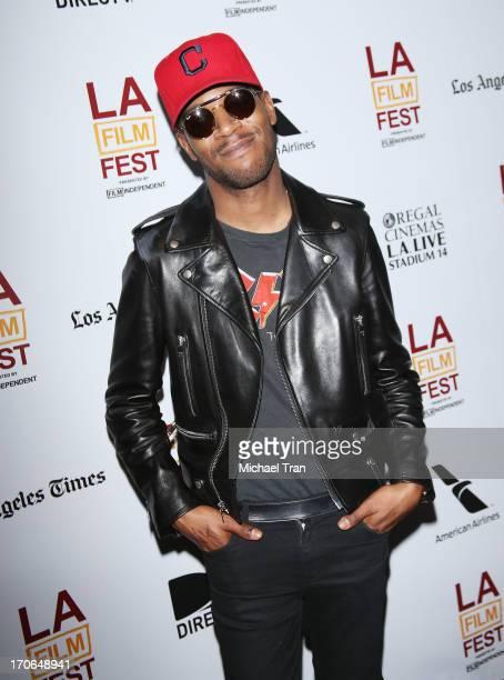 Kid Cudi arrives at the 2013 Los Angeles Film Festival 'Goodbye World' premiere held at Regal Cinemas LA LIVE Stadium 14 on June 15 2013 in Los...