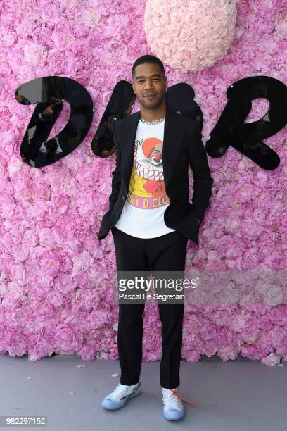 Kid Cudi attends the Dior Homme Menswear Spring/Summer 2019 show as part of Paris Fashion Week on June 23 2018 in Paris France