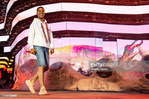 Kid Cudi performs during 2019 Coachella Valley Music And Arts Festival on April 20, 2019 in Indio, California.