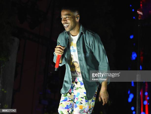 Kid Cudi performs on the Camp Stage during day 2 of Camp Flog Gnaw Carnival 2017 at Exposition Park on October 29 2017 in Los Angeles California