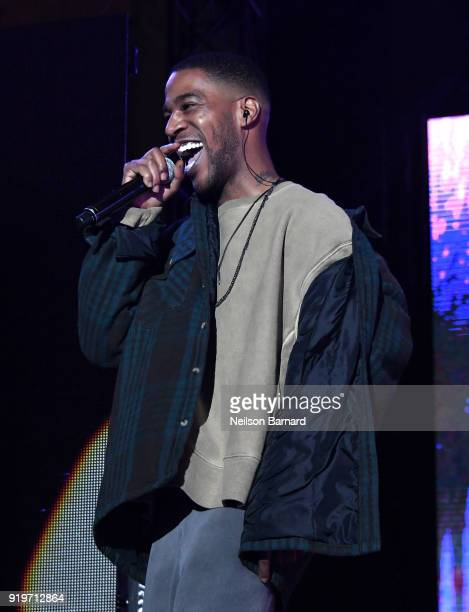 Kid Cudi performs onstage at adidas Creates 747 Warehouse St an event in basketball culture on February 17 2018 in Los Angeles California