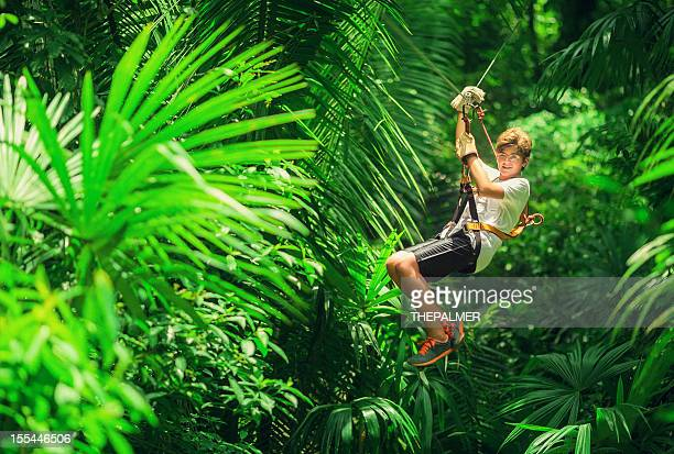 kid during a Canopy Tour in Guatemala