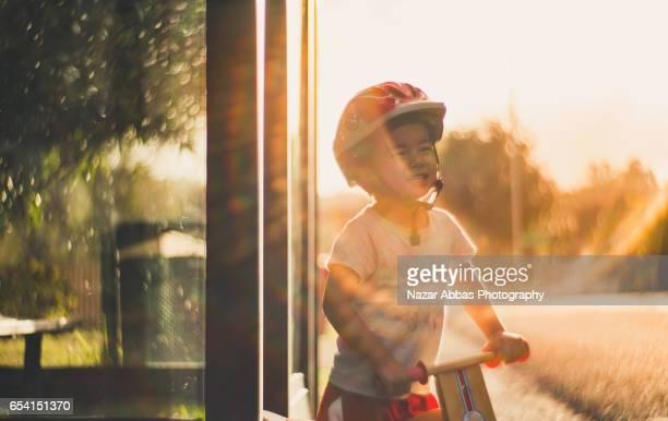 Kid Enjoying Ride.