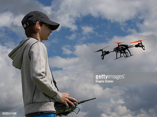 Kid flying a Drone