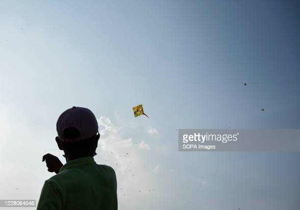 Kid flying a kite in Rajpath during the occasion. India celebrated its 74th Independence Day. It is annually celebrated on 15th August as a national...