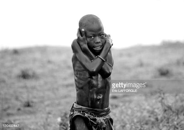Kid from Karo Tribe in Korcho village in Ethiopia on October 29 2008 The Karo with a population of about 1000 1500 live on the east banks of the Omo...