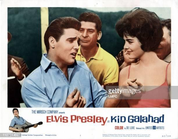 Kid Galahad poster from left front Elvis Presley Joan Blackman 1962