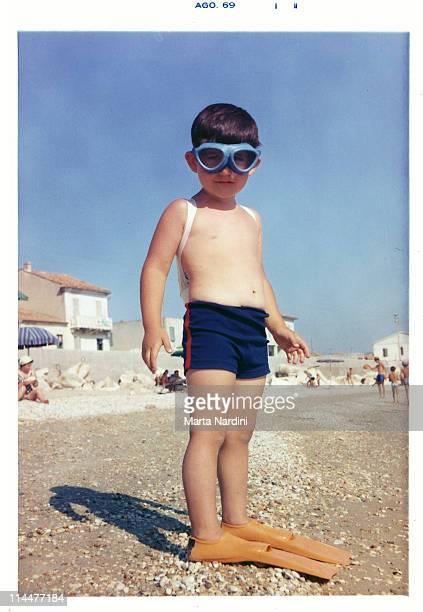 Kid in beach