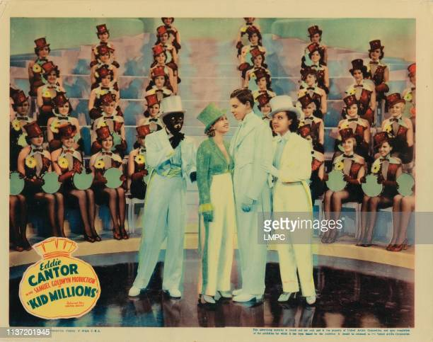 Kid Millions lobbycard Eddie Cantor Ann Sothern George Murphy Ethel Merman the Goldwyn Girls lobby card poster art 1934