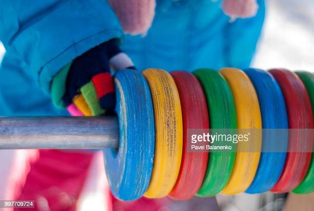 kid playing with coloured blocks - modern rock stock pictures, royalty-free photos & images