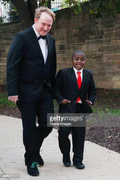 'Kid President' Robby Novak and guest attend the 100th Annual White House Correspondents' Association Dinner at the Washington Hilton on May 3 2014...