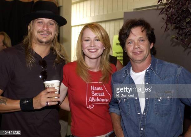 Kid Rock Allison Moore and John Mellencamp during Farm Aid 2002 Concert and Backstage at PostGazette Pavilion in Burgettstown Pennsylvania United...