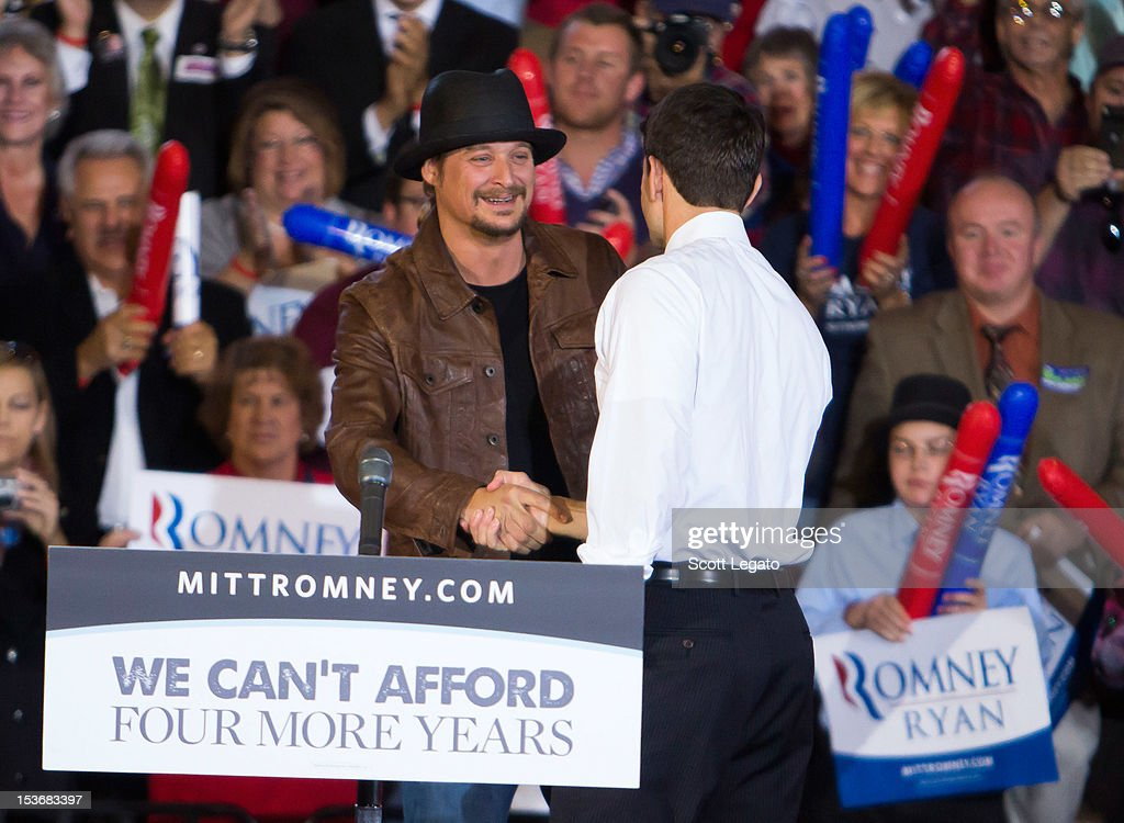 Congressman Paul Ryan Rally With Kid Rock : News Photo