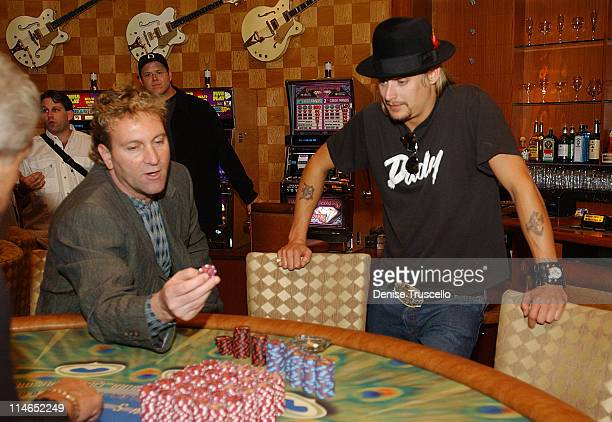 Kid Rock And Don Marrandino, Pesident And Chief Operating Officer At The Hard Rock Hotel Look At The New $5.00, $25.00 and $100.00 Gaming Chips With...