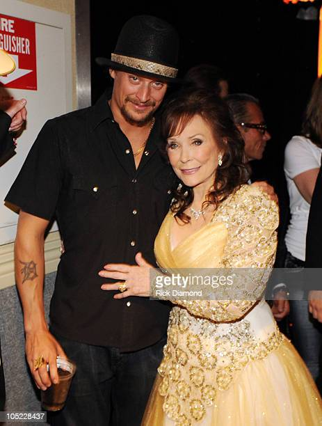 Kid Rock and Honoree Loretta Lynn backstage during the GRAMMY Salute to Country Music Honoring Loretta Lynn presented by Mastercard and hosted by The...