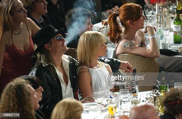 Kid Rock and Jaime Pressly during The 19th Annual Rock and Roll Hall of Fame Induction Ceremony Backstage and Audience at Waldorf Astoria in New York...