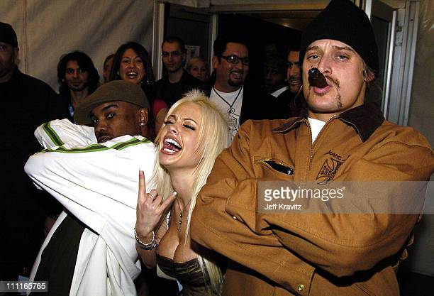 Kid Rock and Jesse Jane during 2004 MTV European Music Awards Backstage And Audience at Torr di Valle in Rome Italy