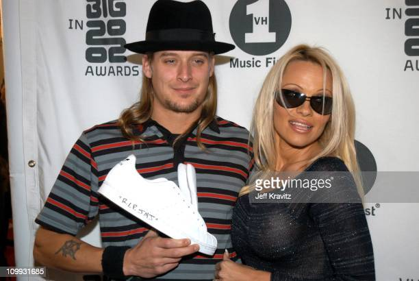 Kid Rock and Pamela Anderson during VH1 Big in 2002 Awards Arrivals at Grand Olympic Auditorium in Los Angeles CA United States