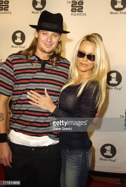 Kid Rock and Pamela Anderson during VH1 Big in 2002 Awards Arrivals at The Grand Olympic Auditorium in Los Angeles California United States