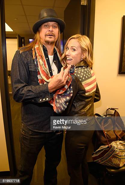 Kid Rock and Sheryl Crow attend 31st Annual Rock And Roll Hall Of Fame Induction Ceremony at Barclays Center of Brooklyn on April 8 2016 in New York...