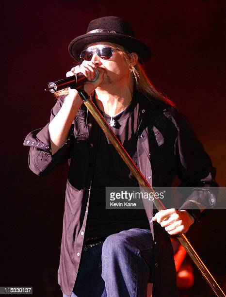 Kid Rock during Kid Rock-Rock-n-Roll Pain Train World Tour 2004/05 at Tommy Hilfiger at Jones Beach Theater in Wantagh, New York, United States.