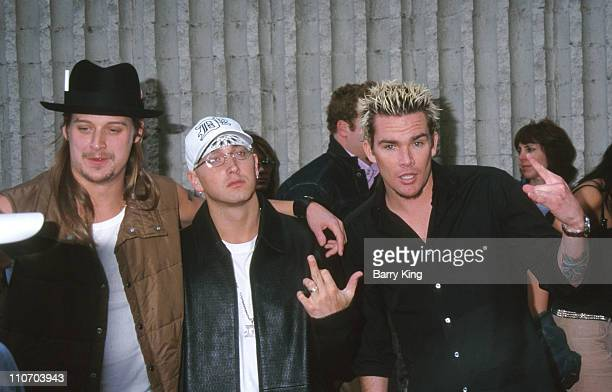 Kid Rock Eminem Mark McGrath of Sugar Ray during 'The Adventures of Joe Dirt' Premiere at AVCO Cinema in Westwood California United States