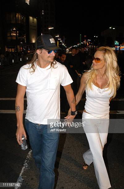 Kid Rock Pamela Anderson during Dreamworks Pictures 'Biker Boyz' at Manns Chinese Theater in Hollywood CA United States