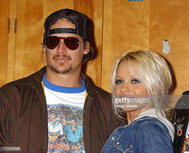 Kid Rock Pamela Anderson during Pamela Anderson Leads The American Liver Foundation's SOS Ride at Eagle Rider Motorcycles in Hawthorne California...
