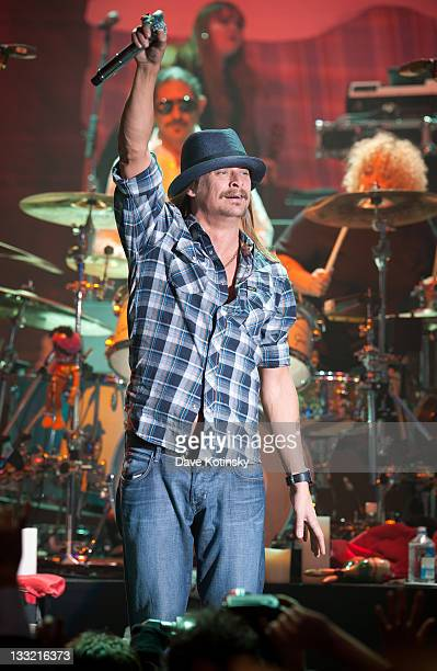 Kid Rock performs at the 14th Annual Collaborating for a Cure dinner and auction to benefit the Samuel Waxman Cancer Research Foundation at the Park...
